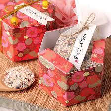 cookie box favors 150 x joyous plum flower hexagonal favor gift boxes