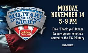 golden corral restaurants salute america s heroes with 16th annual