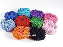 crochet bands crochet 1 5 inch wide headband elastic 1 metre for tutu skirts
