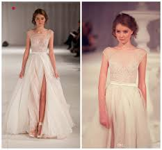 wedding dress elie saab price cheapest elie saab a line wedding dresses sheer scoop runway white
