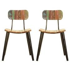 Reclaimed Dining Chairs Coastal Chic Reclaimed Dining Chairs X2 Only Oak Furniture