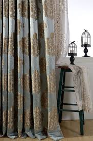 Demask Curtains Strikingly Ideas Blue Damask Curtains Awesome And Gold