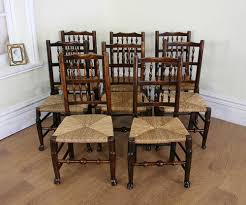 Oak Spindle Back Dining Chairs Eight Spindle Back Oak Dining Chairs C 1780 Antiques Atlas