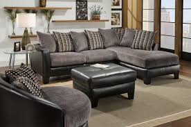 gray sectional with ottoman fascinating picture of living room decoration using l shape leather