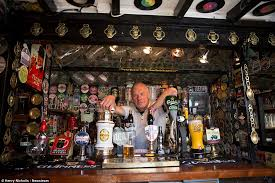father turns garden shed into pint sized pub but can u0027t sell