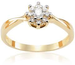 pierscionek zareczynowy pierścionek zaręczynowy amelie 0 22 ct z brylantem żółte złoto