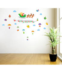 wall decor buy wall decorative products online in india orange and orchid merry christmas vinyl wall stickers