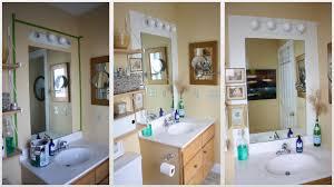 renew vanity mirror with lights around it in lighting bedroom