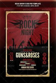 rock show flyer template concerts events scfl pinterest