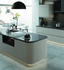 grey kitchen cupboards with black worktop gloss handleless modern kitchen og kitchens