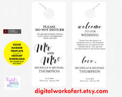 wedding door hanger template wedding door hanger door hanger printable door hanger