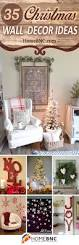 Wall Decor Ideas Pinterest by 35 Best Christmas Wall Decor Ideas And Designs For 2017
