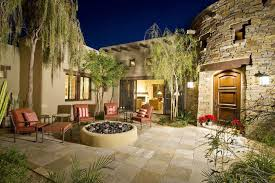 Patio With Firepit 33 Stone Patio Ideas Pictures Designing Idea