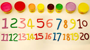 1 to 20 learn numbers 1 20 number song play doh numbers