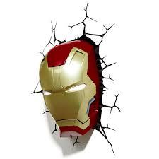 Avengers Wall Lights Iron Man Mask Wall Light 57268 Astonbkk Com