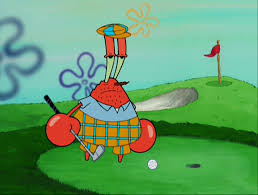 image mr krabs wearing golf clothes png encyclopedia