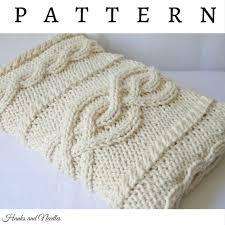 Wedding Gift Knitting Patterns Wool Crochet Blanket Acrylic Blend Throw Reversible Chunky