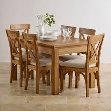 Taunton Rustic Brushed Solid Oak Dining Set Ft  Extending - Rustic oak kitchen table