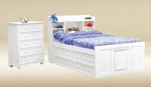 Full Size White Storage Bed With Bookcase Headboard Bedroom Full Size Storage Bed With Bookcase Headboard Intended For