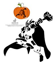 marvel u0027s avengers printable pumpkin stencils thor the god of