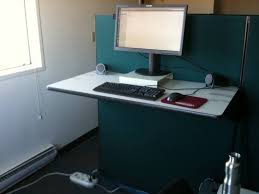 how to make a standing desk in a cubicle decorative desk decoration