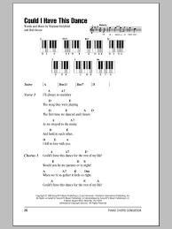 Light One Candle Lyrics Could I Have This Dance Sheet Music By Anne Murray Lyrics U0026 Piano