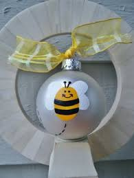 bee easter ornaments paper quilled in black and yellow bees