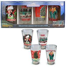 national lampoon christmas vacation set of 4 pint glasses
