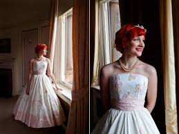 wedding dress glasgow vintage 1950s style wedding dress photography lindsay fleming