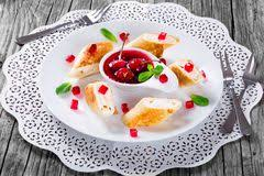 Goat Cottage Cheese by Pancake Rolls With Sweet Cottage Cheese Stock Image Image 35361381