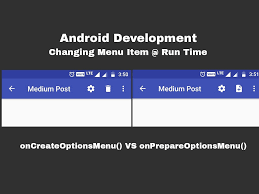 android oncreateoptionsmenu android changing menu items at run time android friendly i