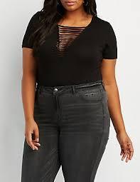 Plus Size Bodysuit Blouse Plus Size Bodysuits Charlotte Russe