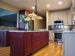 archaic modular kitchen design ideas with parallel and red brown