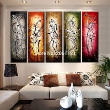 Peinture Moderne Pour Salon by Achetez En Gros Peinture U0026agrave L U0026 39 Huile Abstraite En Ligne à