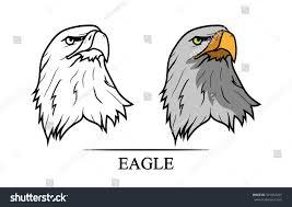 vector illustration eagles head black color stock vector 301954055