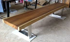 bench order live edge bench table reclaimed acacia wood solid slab