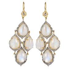 antoinette earrings antoinette moonstone diamond chandelier earrings