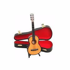 wooden 1 12 miniature guitar mini acoustic musical bass instrument