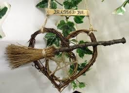 handfasting gift rustic pentacle heart u0026 besom home blessing