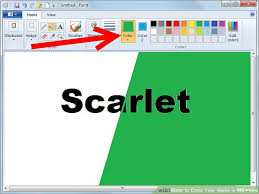 how to color your name in ms paint 7 steps with pictures