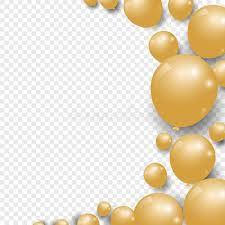 gold balloons celebration festive gold balloons on transparent background stock