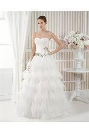 princess a line sweetheart layered tulle ruffle wedding dress