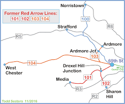 Septa Regional Rail Map Septa U0027s 101 And 102 Trolley Lines Philadelphia Pa