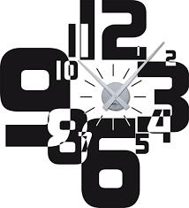Wohnzimmer Uhren Wanduhr Amazon De Wandtattoo Wanduhr Modernes Design Mit Zahlen In