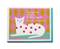 spotted cat birthday fine day press
