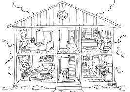 casa disegno disegno da colorare casa interno cat 25995