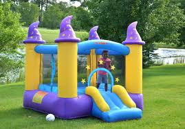 amazon com wizard inflatable bounce house bouncer toys u0026 games