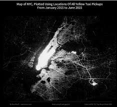 Map Of Jfk Airport New York by Map Of New York City Plotted Using Locations Of All Yellow Taxi