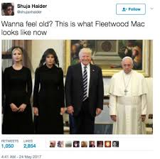 Spurs Memes - a photo of pope francis looking miserable with the trumps spurs