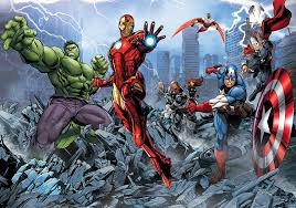 marvel avengers assemble comic wallpaper mural amazon com